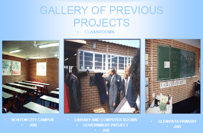 Previous projects - classrooms